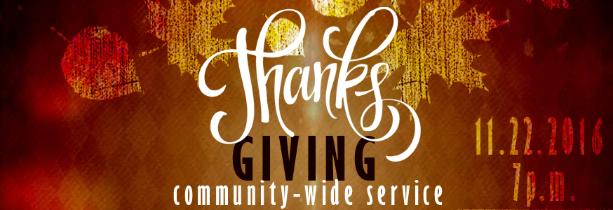 Community-wide Thanksgiving Service